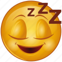 cartoon, character, emoji, emotion, face, rest, sleep icon