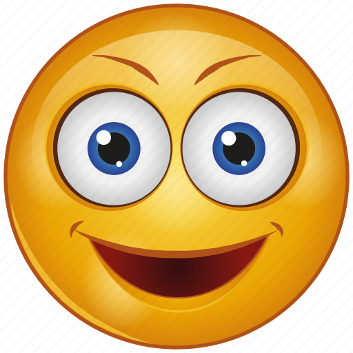 Cartoon, character, emoji, emotion, face, happy, smile icon - Download on Iconfinder