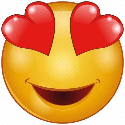 Cartoon, character, emoji, emotion, face, heart, love icon - Download on Iconfinder