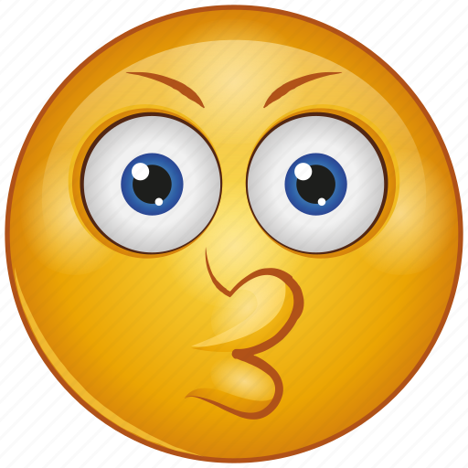Cartoon, character, emoji, emotion, face, kiss, smiley icon - Download on Iconfinder