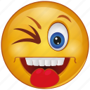 cartoon, cheeky, emoji, emotion, face, smiley, tongue