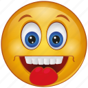 cartoon, cheeky, emoji, emotion, face, smiley, tongue icon