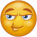 cartoon, character, emoji, emotion, face, smiley, wink