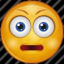 boring, cartoon, dull, emoji, emotion, face, stare icon