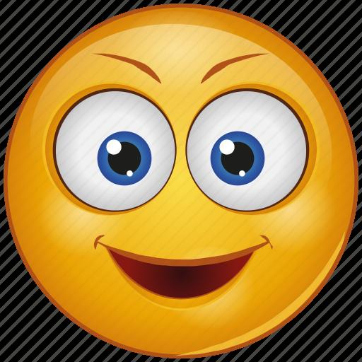 cartoon, character, emoji, emotion, face, happy, smile icon