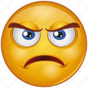 bemused, cartoon, character, emoji, emotion, face, upset