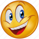 cartoon, character, emoji, emotion, face, happy, smile