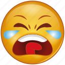 cartoon, crying, emoji, emotion, face, sad, smiley