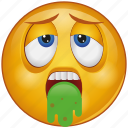 cartoon, character, emoji, emotion, face, flu, sick icon