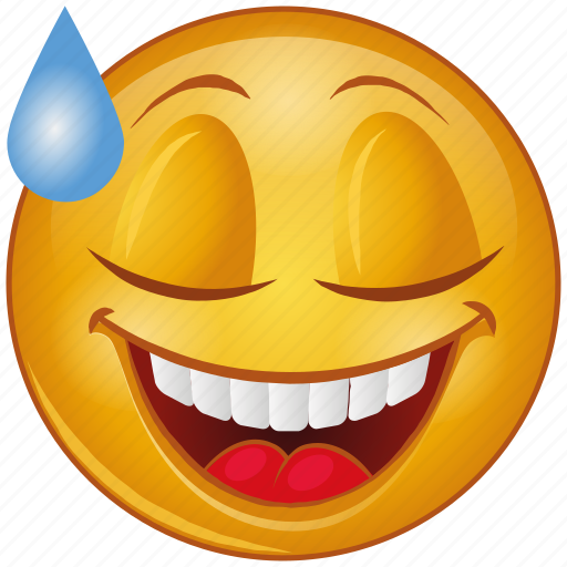 Cartoon, character, emoji, emotion, face, laugh, smiley icon - Download on Iconfinder