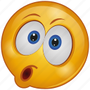cartoon, character, emoji, emotion, face, shock, surprise