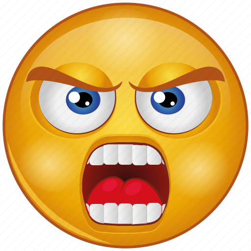 angry, annoyed, cartoon, character, emoji, emotion, face icon
