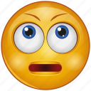 cartoon, character, emoji, emotion, face, smiley, up eyes