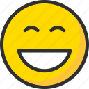 emoji, emoticon, face, mood, smile, smiling icon