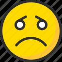 emoji, emoticon, face, mood, sad, sadness icon