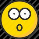 emoji, emoticon, face, mood, surprise, wonder icon