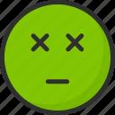 emoji, emoticon, face, mood, nausea, sickness icon
