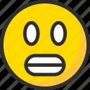 emoji, emoticon, face, mood, perplexity, shock icon