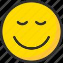 emoji, emoticon, face, mood, relax, smile icon