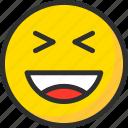 emoji, emoticon, face, haha, laugh, mood, smile icon