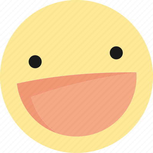 emoji, emoticons, happy, laugh, laughing icon