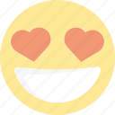 emoji, emoticons, heart, in love, love icon
