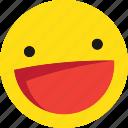 emoji, emoticons, happy, laugh, laughing, smile icon