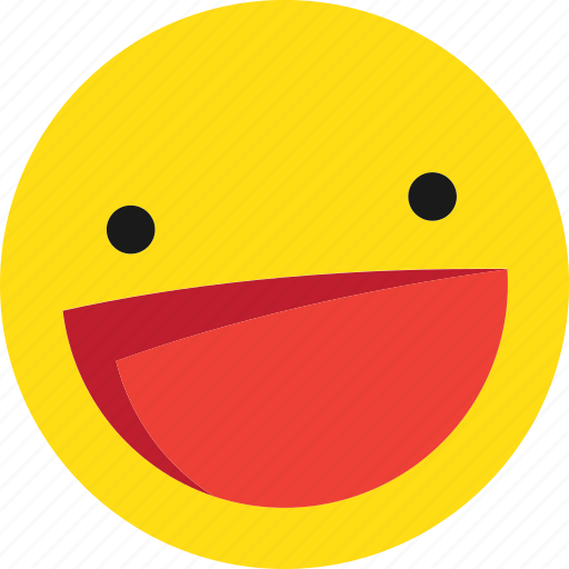 emoji, emoticons, happy, laugh, laughing, smile icon