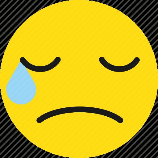 cry, crying, emoji, emoticons, sad icon