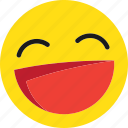 emoji, emoticons, happy, laugh, laughing, lol, smile icon