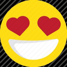 emoji, emoticons, heart, in love, love icon