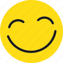 emoji, emoticons, happy, smile icon