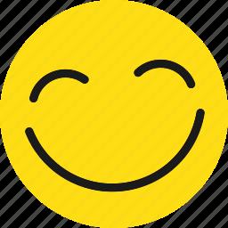 emoji, emoticons, happy, smile icon