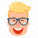 character, emoji, emotion, emotions, face, head, smile icon