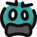emoji, emoticon, feelings, shock, shocked, smileys, upset icon
