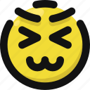 awkward, embarrassed, emoji, emoticon, feelings, smileys, upset icon