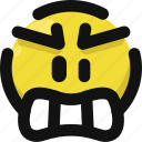 angry, emoji, emoticon, feelings, furious, mad, smileys icon