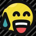 awkward, embarrassed, emoji, emoticon, feelings, smile, smileys icon