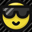 cool, emoji, emoticon, feelings, happy, smileys, sunglasses icon