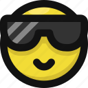 cool, emoji, emoticon, feelings, happy, smileys, sunglasses icon