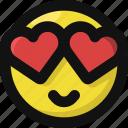 emoji, emoticon, feelings, heart, in, love, smileys