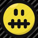 emoji, emoticon, feelings, mute, quiet, silent, smileys