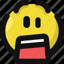 emoji, emoticon, feelings, shock, shocked, smileys, surprised icon