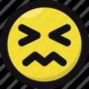 disgusted, emoji, emoticon, feelings, nauseated, sick, smileys