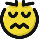disgusted, emoji, emoticon, feelings, sick, smileys, upset