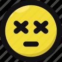 emoji, emoticon, exhausted, feelings, ko, smileys, tired icon