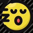 emoji, emoticon, feelings, sleepy, smileys, snore, tired icon