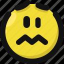 emoji, emoticon, feelings, sad, smileys, upset, worried