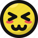 awkward, embarass, embarrassed, emoji, emoticon, feelings, smileys icon