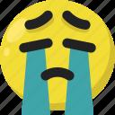 cry, emoji, emoticon, feelings, sad, smileys, tears